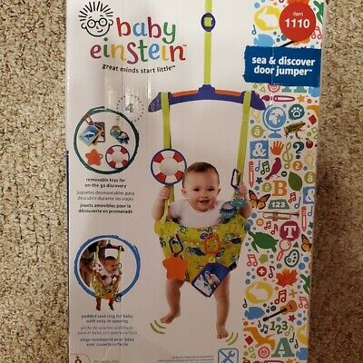Baby Einstein Sea and Discover Door Jumper Up to 26lbs Removable Toys