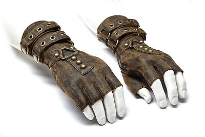 ON SALE Punk Rave Mens Steampunk Gloves Military Gothic Dieselpunk motocycle