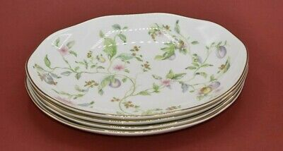 Wedgwood Sweet Plum Shallow Oval Pasta/Serving Bowls Made in England Set of 4