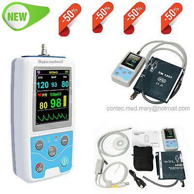 PM50 Portable Patient Monitor Vital Signs NIBP SPO2 Pulse Rate Meter FDA CE US