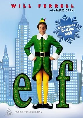 Elf – Dvd, 2-Disc Set- Region-4- New And Sealed-Free Post In Australia