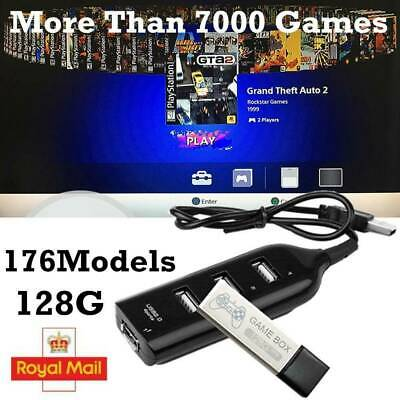 True Blue 128G PS1 Mini Crackhead Pack Game Enhancer for Playstation -7000 Games