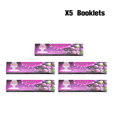 Hornet 5 Packs King Size Fruit and Grape Flavored Cigarette Rolling Papers