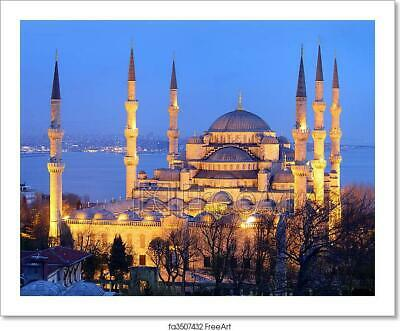 PHOTOGRAPH LANDMARK SULTAN AHMED MOSQUE ISTANBUL TURKEY PRINT POSTER MP3485A