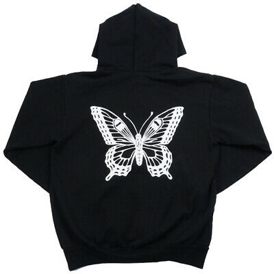 Girls Don`t Cry BUTTERFLY HOODY BLACK S