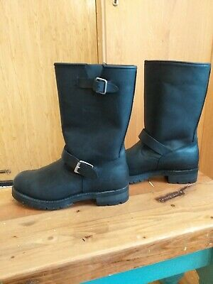 New Leather MOTORCYCLE boots USA size 11