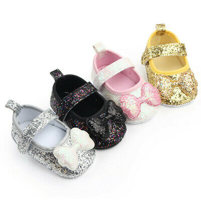 Infant Kids Girls Indoor Soft-Soled Bow-Knot Princess Shoes Baby Walking Shoes