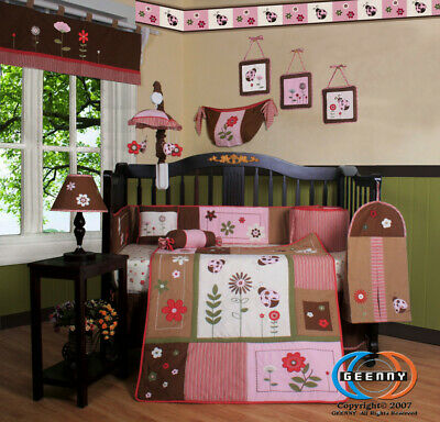 13PCS LadyBug Flower Baby Nursery Crib Bedding Sets - Holiday Special