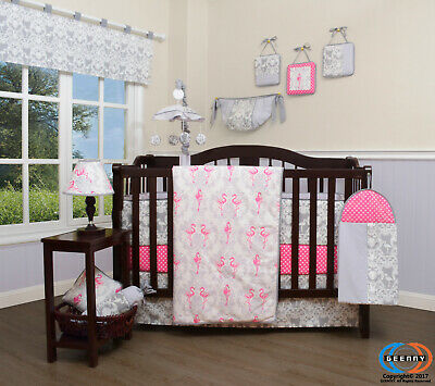 13PCS Flamingo Bird Baby Nursery Crib Bedding Sets  Holiday Special