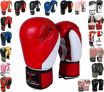 Max Strength Boxing Gloves Kickboxing Punch Gym Training MMA Adult Muay Thai UFC