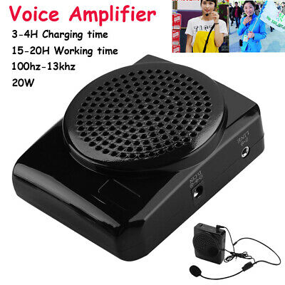 Portable Rechargeable Voice Amplifier Loud Booster Microphone Teaching Speaker
