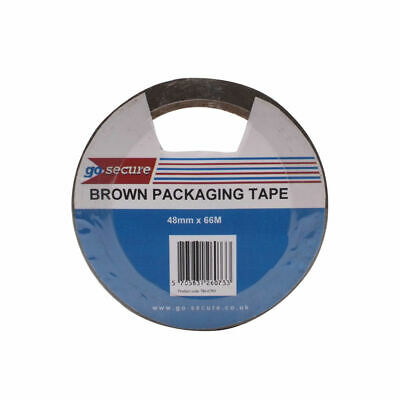 GoSecure Packaging Tape 50mmx66m Brown (Pack of 6)
