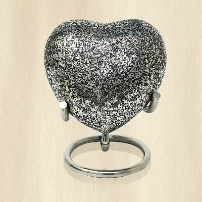 Classic Small Heart Keepsake Cremation Urn For Human Ashes