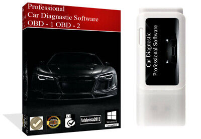 OBD 1 - OBD 2 Pro Car Diagnostic Software + ECU BHP Tuning Remapping ELM 327 USB
