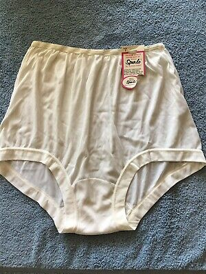 Vintage Sylray Spun Lo For McCrory Drug 100% Acetate  Band Leg Panty 7 Large NWT