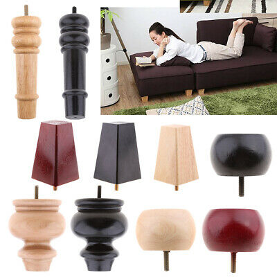 Solid Wood Sofa Ottoman Table Couch Furniture Legs Tapered Cabinet Leg