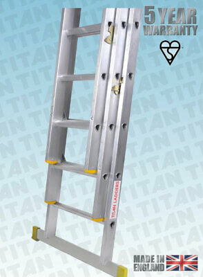 Titan Aluminium Classic Trade Ladders - With Fitted Stabiliser Bar - EN131