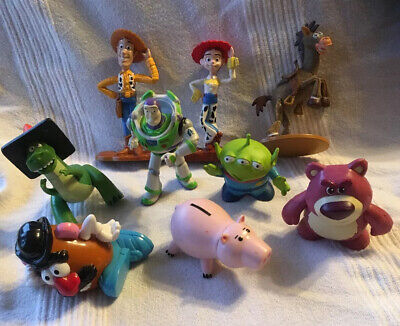 9 X Toy Story Figure Bundle. Disney Pixar. Buzz Woody Jessie Rex Potato Head.