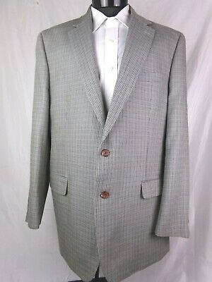 Ralph Lauren Blazer Gray Houndstooth Silk/Wool Mens 46L