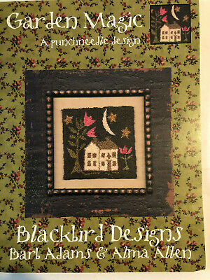 Blackbird Designs- Garden Magic Punchneedle Design- OOP