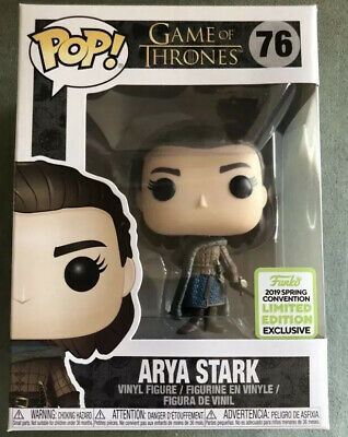Funko Pop Arya Stark ECCC 2019 Exclusive Game Of Thrones #76 Spring Convention