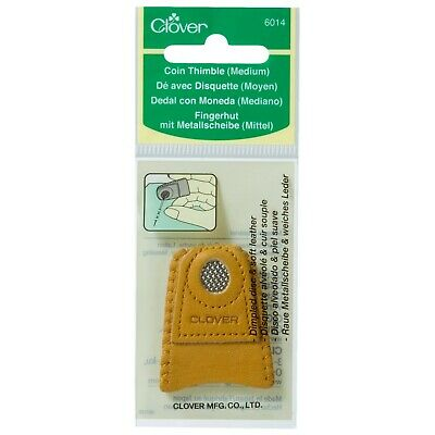 CLOVER MEDIUM COIN THIMBLE LEATHER - Sewing Needle Craft Hobby  ITEM – CL6014