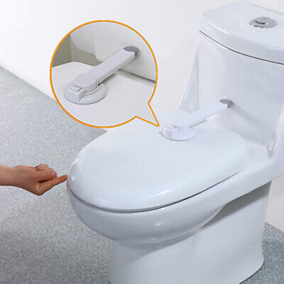 Toilet Seat Lid Lock Safety Child Proof Baby Kids Potty Home Bathroom White