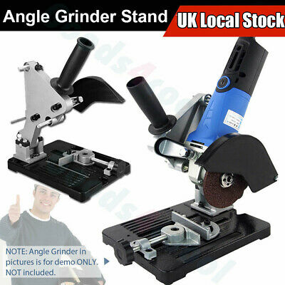 Angle Grinder Stand 45° Cast Iron Cutting Fixing Clamp Holder Bracket Support