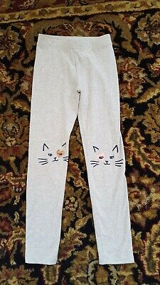 JCrew  Crewcuts Girls Gray Cat Leggings Size 7
