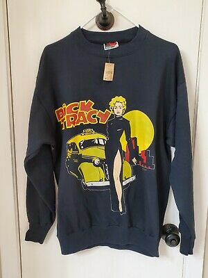 Vintage Dick Tracy Black Sweatshirt - Never Worn - Never Washed - 1990 - Xl