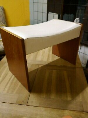 A Stylish Mid Century Teak Dressing Stool - Danish Modernist 1960'S.