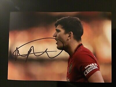 Harry Maguire. Signed 6X4 Photo Manchester United Autograph Great Quality.