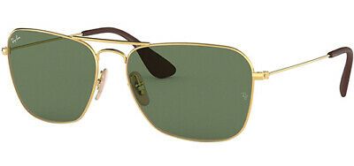 Ray-Ban Gold-Tone Vintage Style Squared Aviator Sunglasses - RB3610 00171 58