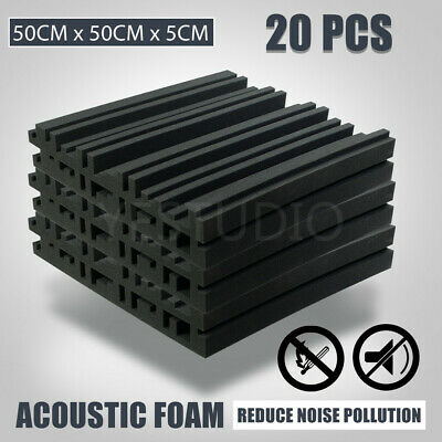 Acoustic Foam Sound Proofing Stop Absorption Treatment Square Panel Home Studio