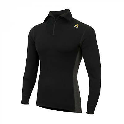 Aclima Warmwool Polo zip Man Jet Black/ Marengo