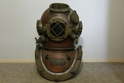 Reproduction Copper coloured 12-bolt Mark V Diving helmet