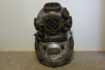 Reproduction 12-Bolt Mark-V Diving Helmet, Grey coloured