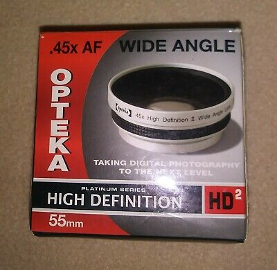 Opteka High Definition .45x Lens AF WIDE ANGLE 55MM W MACRO + adapter