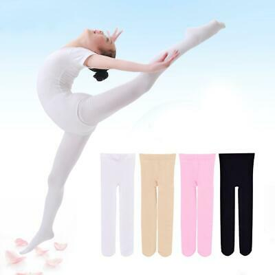 Girls Solid Stocking Tights Step Foot Pantyhose Ballet Kids Children Dance Pants
