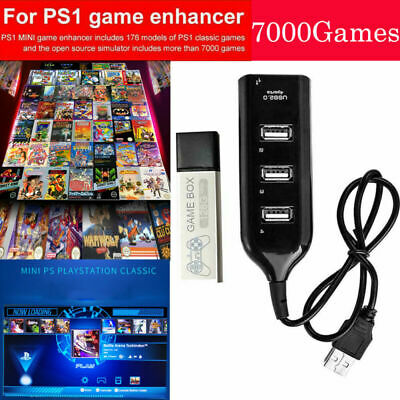 128G-PS1 MINI True Blue Mini Crackhead Pack For Playstation Built-in 7000 Games