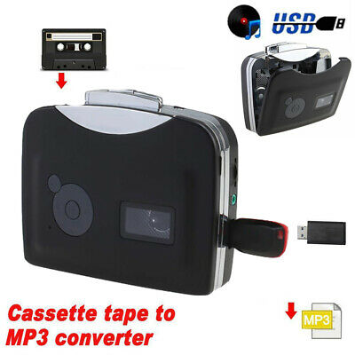 New Tape to PC Super USB Cassette-to-MP3 Converter Capture Audio Music Player RF