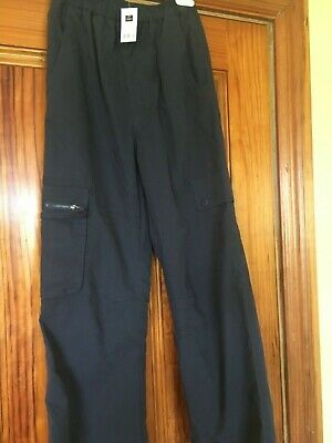 Dunnes Boy's Navy Cargo Lined Trousers Age 11-12 / 25 inch or 64 cm Waist