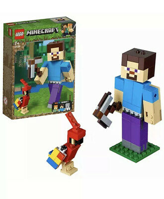 LEGO 21148 Minecraft Steve BigFig With Parrot Build  **BRAND NEW**