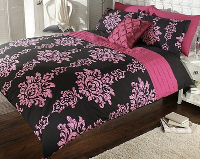 New Luxury Elastic Cuff Polycotton Duvet Cover Set Pillow Cases Bedding Sets