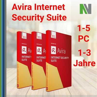 AVIRA INTERNET SECURITY SUITE 1-5 PC 1-3 Jahre 2020