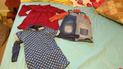 Girls Cute Next Dress Polo Neck Top Bundle Age 18-24 Months 1.5-2 Years