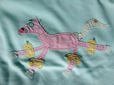 Joules Girls Pale Blue Top Age 5 BNWT
