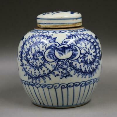 Chinese ancient antique hand make Blue and white  Small jar s26