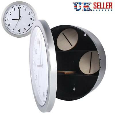Wall Clock Safe With Hidden Diversion Compartment for Valuables Money Storage