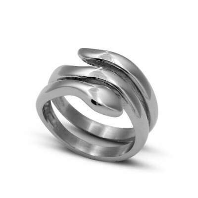 High Quality Men and Women Stainless Steel Snake Ring in  White Color , Snake ba